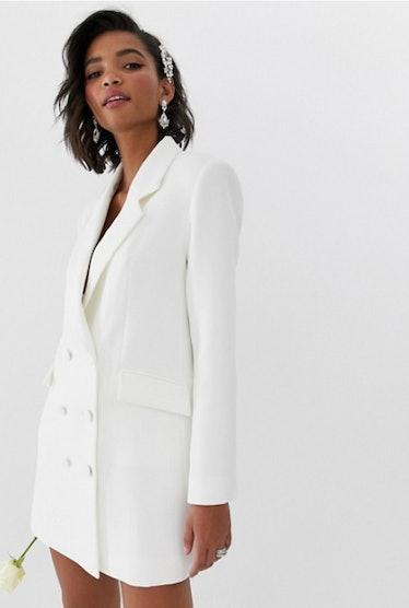 ASOS EDITION blazer wedding dress