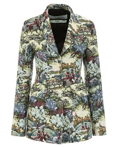 Women's Green Tapestry Blazer