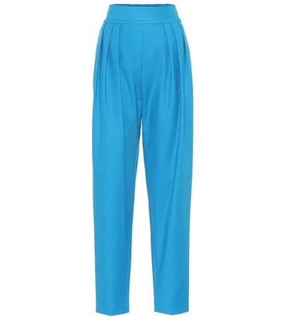 Stretch-Cotton High-Rise Pants