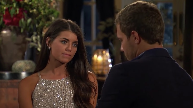 The Bachelor's Madison wore a sparkling mini dress on last night's episode.