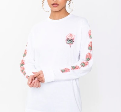 NOT MY PROBLEM WHITE LONG SLEEVE