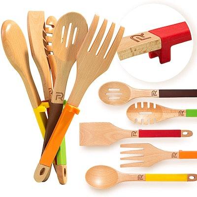 Riveira 5-Piece Wooden Cooking Utensil Set