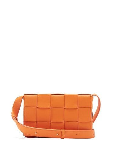 Cassette Small Intrecciato Leather Cross-Body Bag