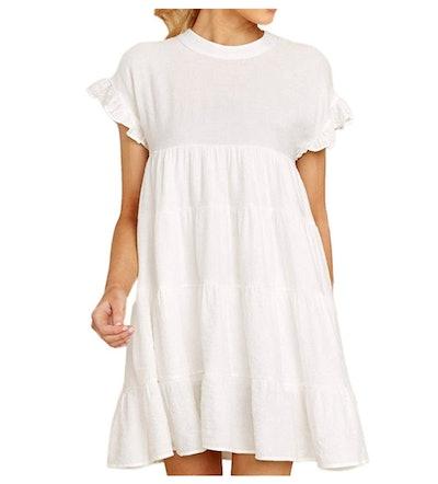 Joteisy Women's Tiered Mini Dress