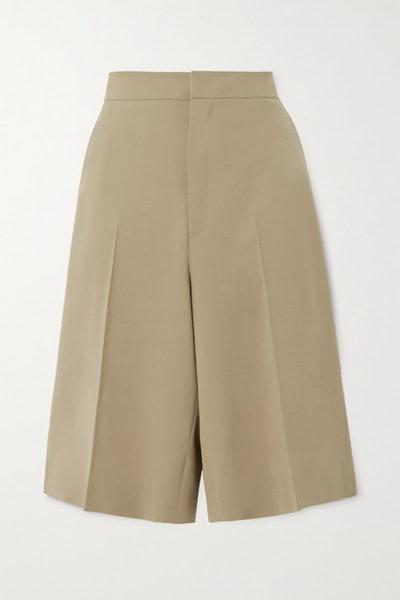 Praline Wool-Blend Shorts