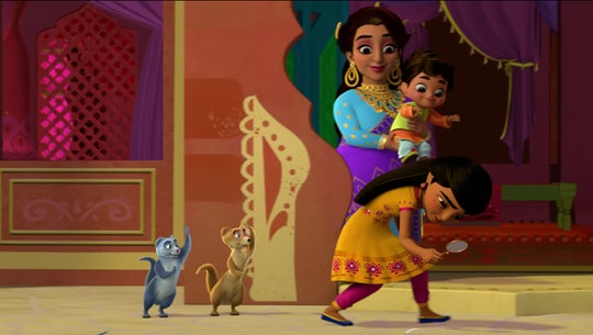 """Disney Junior gave Romper the first look at """"Mira, Royal Detective,"""" a new show centered around a brave and resourceful girl who gets appointed royal detective in the magical India-inspired land of Jalpur."""