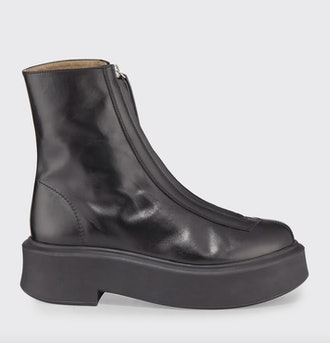 Black Zipped Combat Boot
