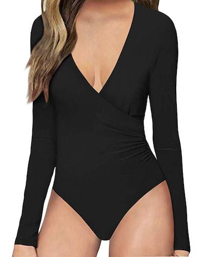 MANGOPOP Women's Long Sleeve Bodysuit