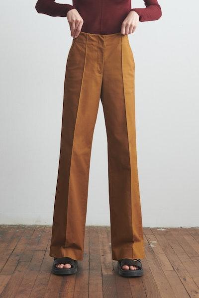 High Waisted Trousers Khaki