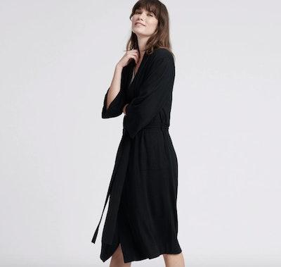 Summer Silk Cashmere Robe Black