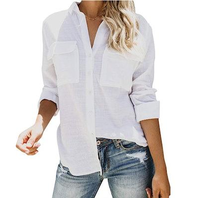 Runcati Women's Button-Down Shirt