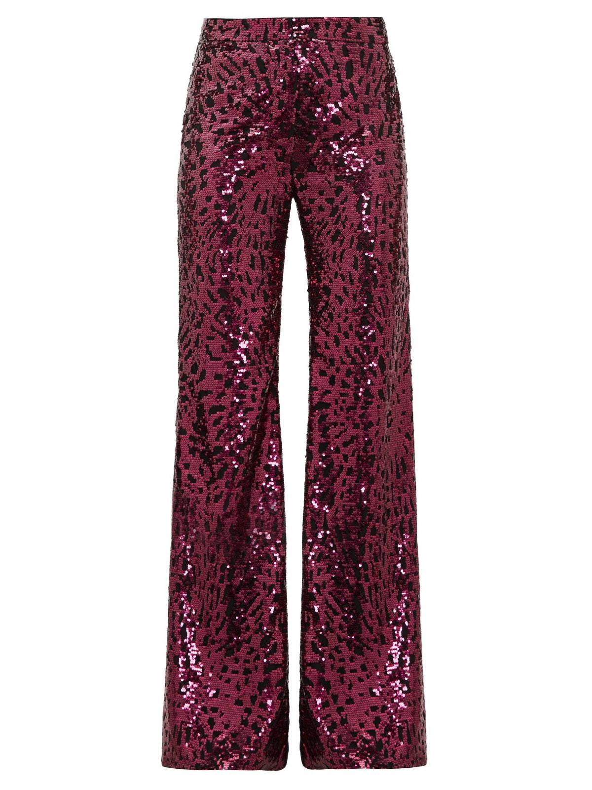 Sequinned Wide-Leg Trousers