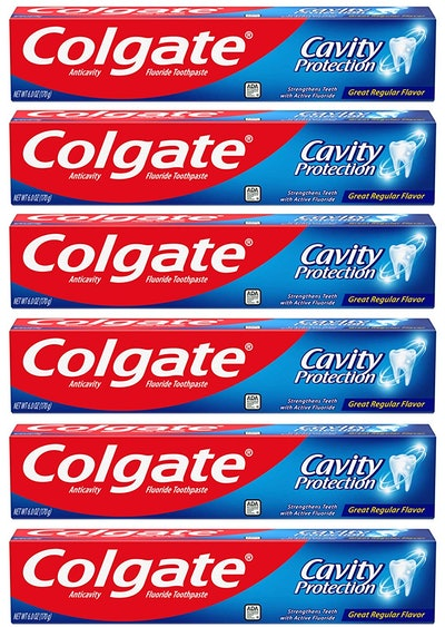 Colgate Cavity Protection Toothpaste With Fluoride (6-Pack)