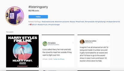 #ListeningParty allows you to hear great songs or albums by famous artists.