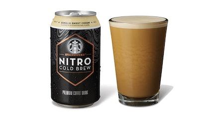 Starbucks new RTD Nitro Cold Brew comes in three flavors including vanilla sweet cream.