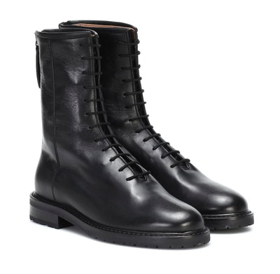 Combat Leather Ankle Boot
