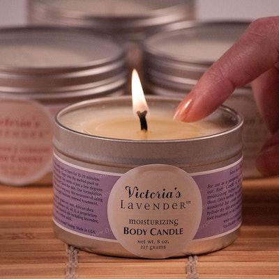 Victoria's Lavender Moisturizing Massage Candle