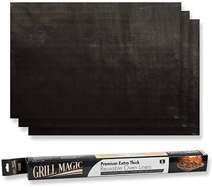 Grill Magic Non-Stick Heavy Duty Oven Liners (3-Pack)