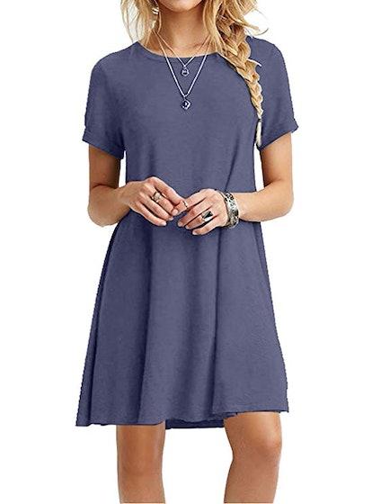 MOLERANI Women's Casual T-Shirt Dress