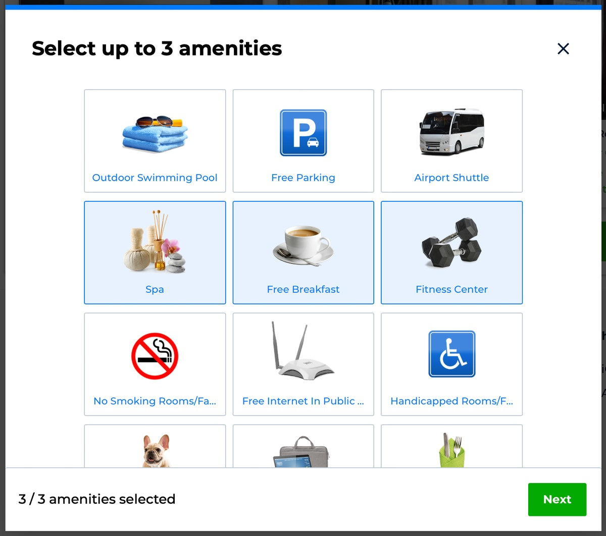 Priceline's Pricebreakers feature allows you to select up to three amenities and customize your sear...