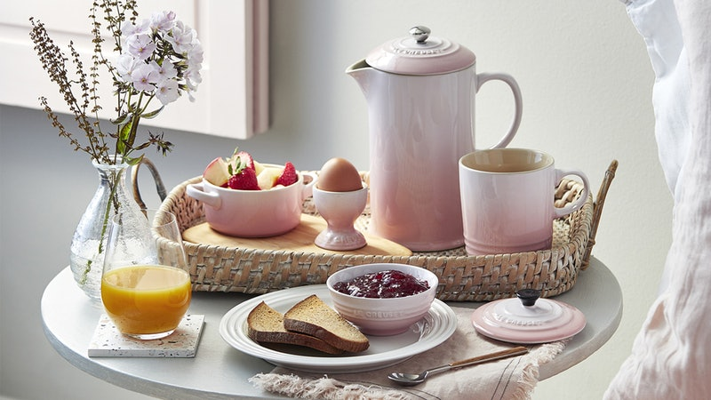 Le Creuset's Shell Pink collection will add a romantic touch to your kitchenware