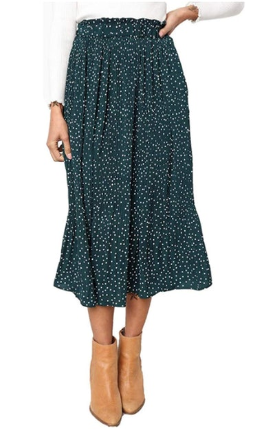 Exlura Pleated Skirt With Pockets