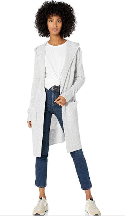 Goodthreads Hooded Longline Cardigan Sweater