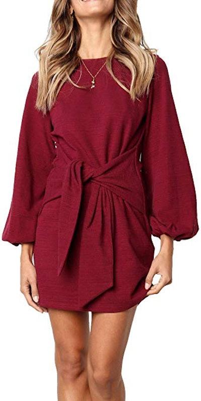R. Vivimos Tie Waist Sweater Dress