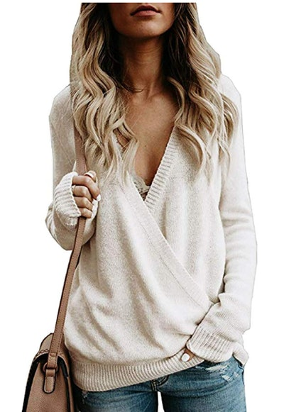 Softome Wrap Front Sweater