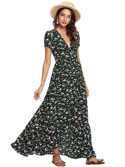 Milumia Women's Button Up Maxi Dress