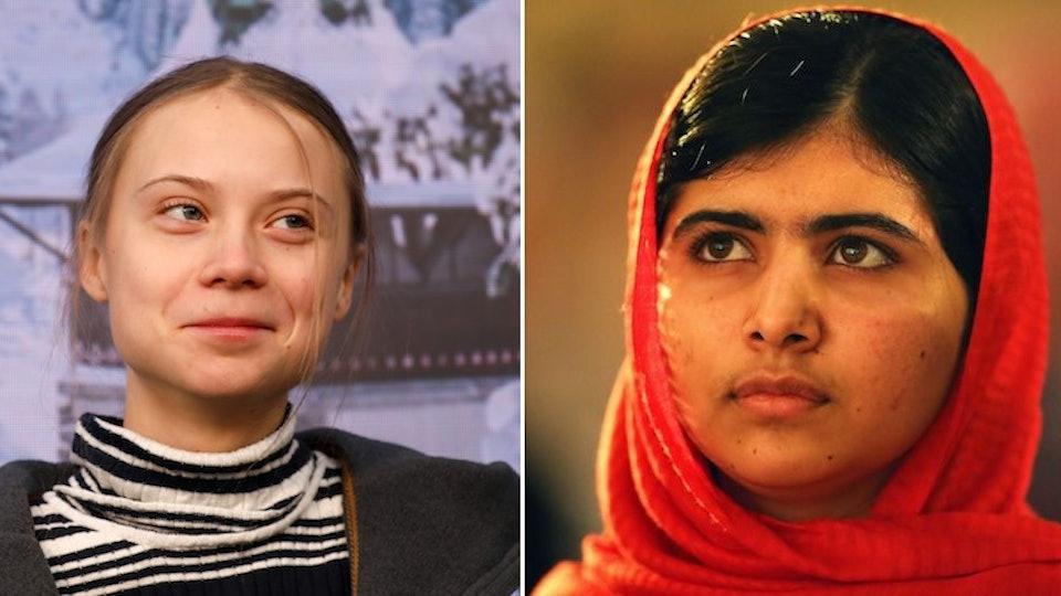 Greta Thunberg and Malala Yousafzai met earlier this weekend in the United Kingdom.