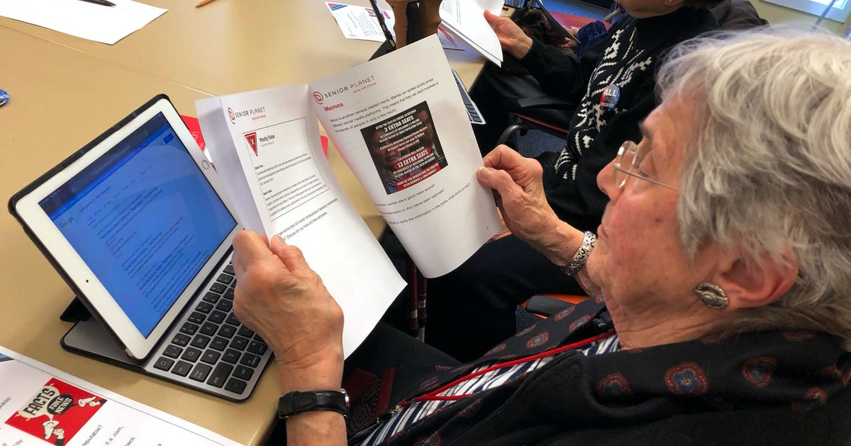 We need more classes to teach older people to spot fake news