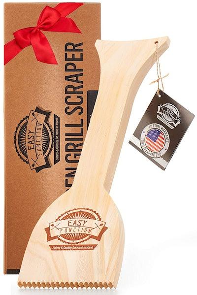Easy Function Wooden Grill Scraper
