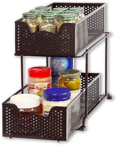 Simple Houseware 2-Tier Sliding Organizer Drawer