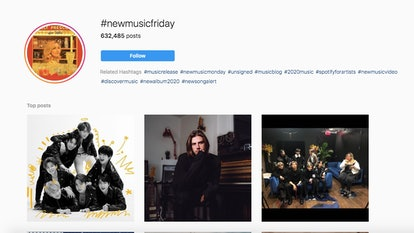#NewMusicFriday lets you stay up to date with your favorite Instagram artists' music.