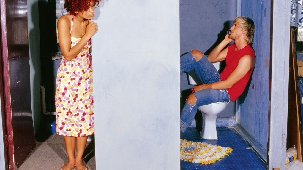 Young black woman listening to cheating, disloyal boyfriend