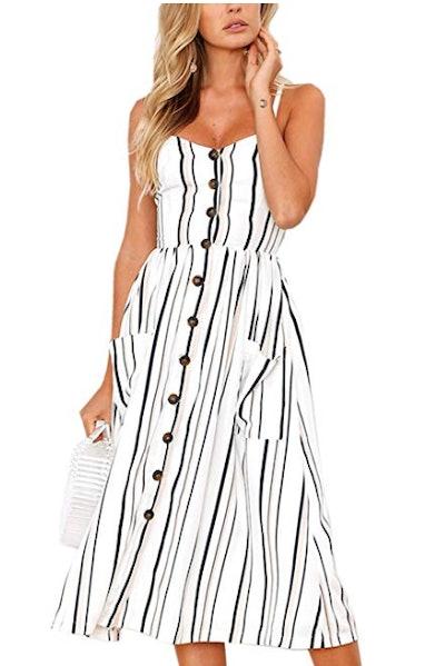 Angashion Midi Dress With Pockets