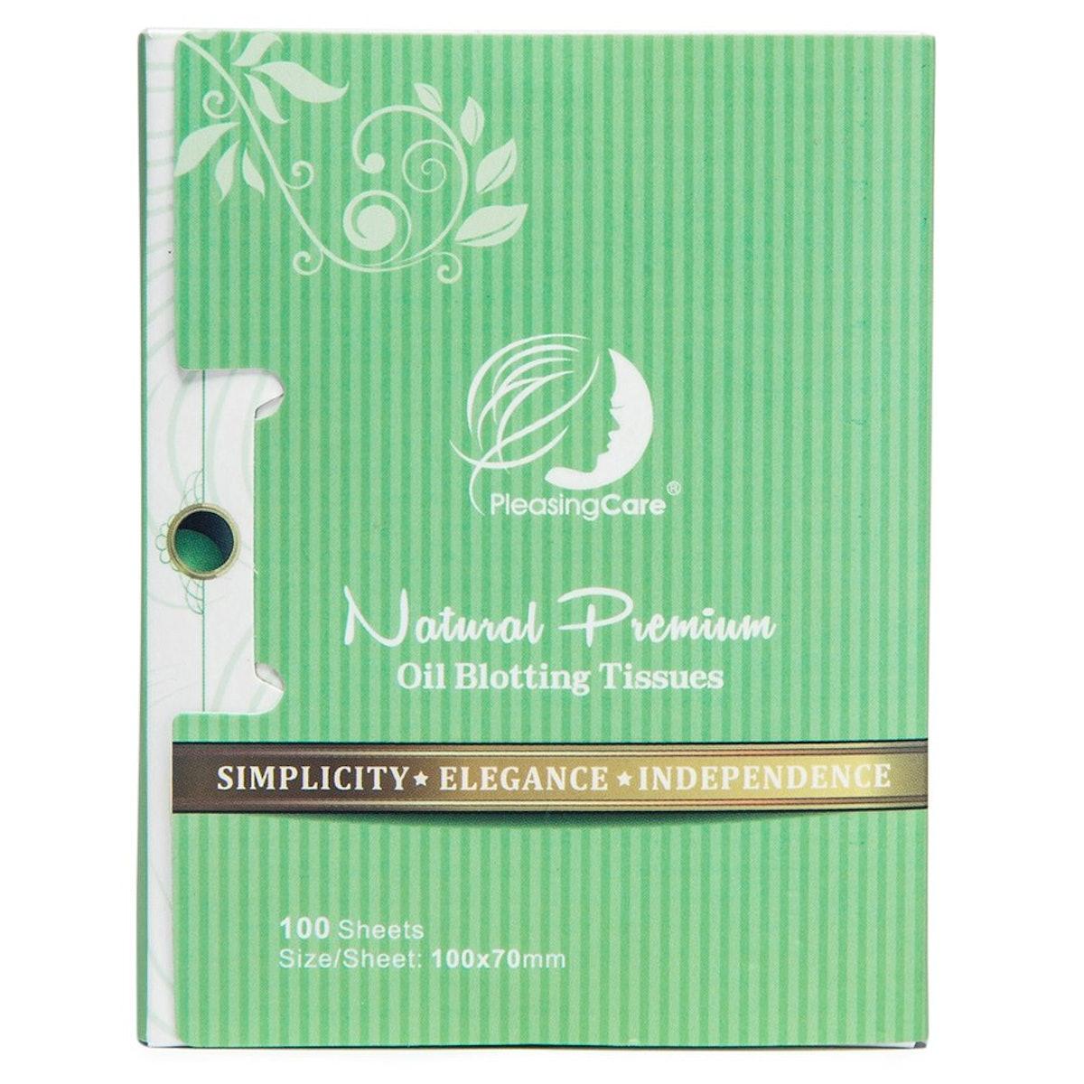 PleasingCare Natural Green Tea Oil Absorbing Tissues (100-Pack)
