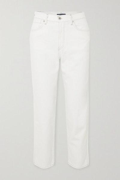 The Column High-Rise Straight-Leg Jeans