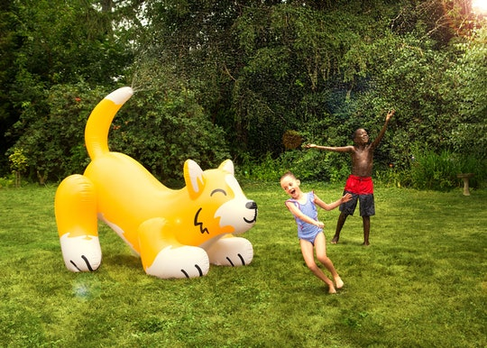 5 foot tall inflatable corgi