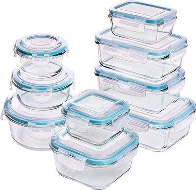 Utopia Kitchen Glass Food Storage Containers (Set of 18)
