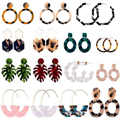 Duufin 15 Pairs Acrylic Earrings
