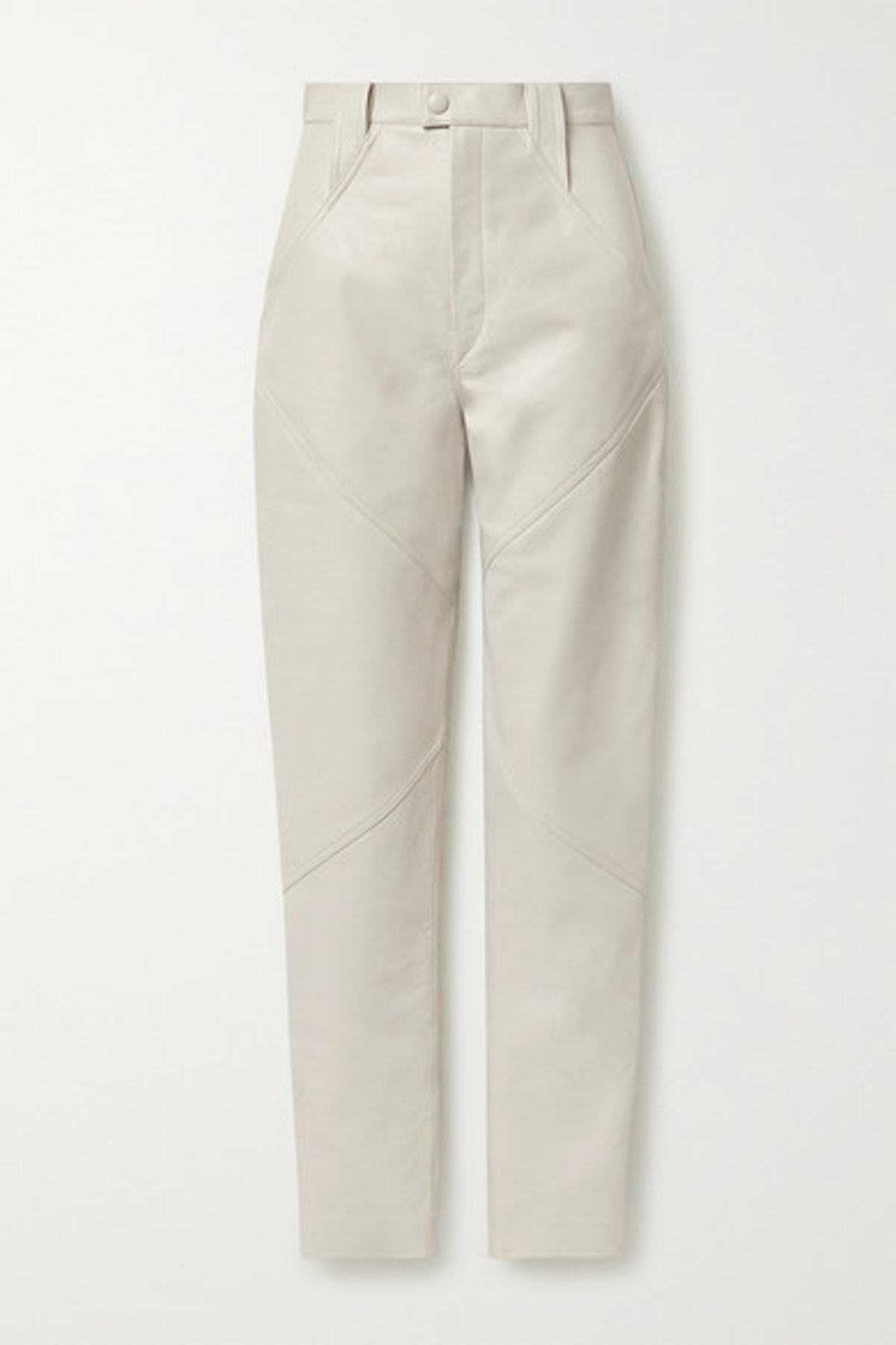 Xenia Leather Tapered Pants
