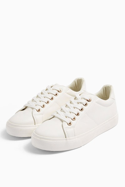 CAMDEN White Lace Up Trainers