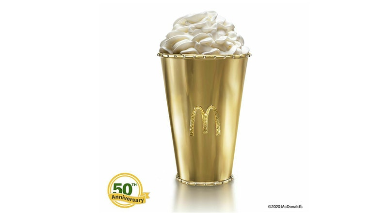 McDonald's is auctioning off a Golden Shamrock Shake cup on eBay.