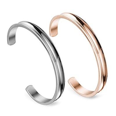 Zuo Bao Stainless Steel Cuffs