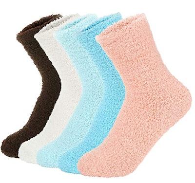 Zando Plush Slipper Sock (5-Pack)