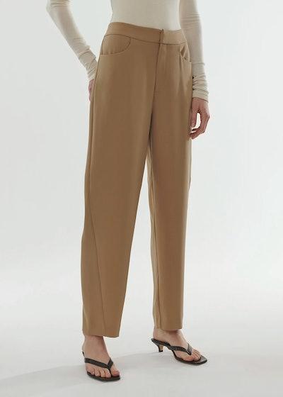 Novara Crepe Trousers Khaki