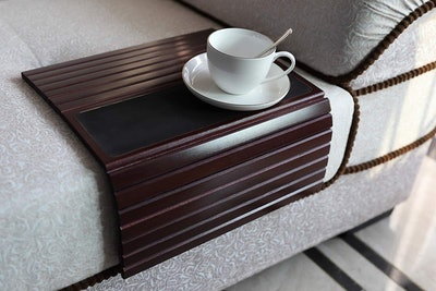 GEHE Bamboo Sofa ArmTray Table