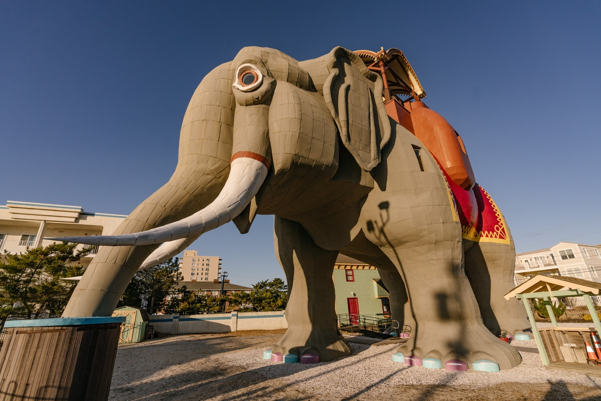Lucy the Elephant is six stories tall and is now available to rent on Airbnb at the Jersey Shore.